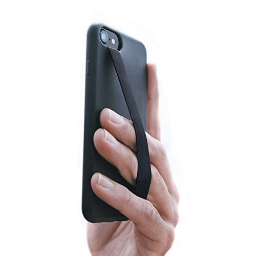 Phone Loops: The Original Phone Loop Finger Strap for Mobile Phone - Phone Loop Finger Holder for Phone Case Grip - Phone Strap Holder for Hand Grip - Finger Loop for Cell Phone Case (Black)