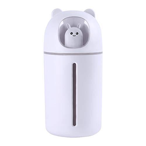 HBRE Nano PulvéRisateur De Brume pour La Peau,USB Humidificateur Nettoyage Pores Soins OpéRation Silencieuse Nano Jet d'eau 350 ML,Humidificateur Facial Vapeur Hydratant Hydratant,White