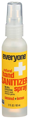 EO Products Hand Sanitizer Spray for Everyone,Coconut+Lemon, 2 Fluid Ounce