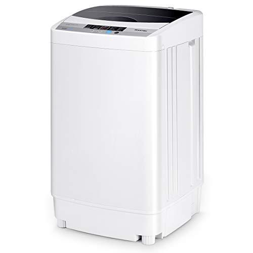 GOPLUS Lavatrice Portatile Lavasciuga Lavatrice Centrifuga Silenziosa 310W di Potenza 4,5kg 45L di Capacità con 10 Programmi, Bianco