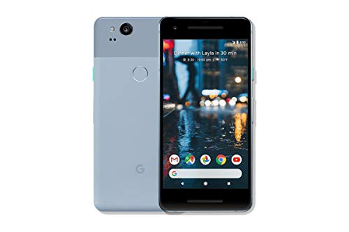 Pixel 2 Phone (2017) by Google, G011A 64GB 5' inch (GSM Only, No CDMA) Factory Unlocked Android 4G/LTE Smartphone (Kinda Blue) - International Version