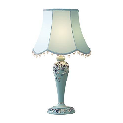 SHIJIE1701AA Lámpara de Mesa Lámpara de sobremesa Tallada a Mano Europea Dormitorio Sala de Estar Cálido Romántico Lámpara de Mesa LED Noche Lámpara de Mesa (Color : B)