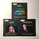 Limited Edition Spotify Starbucks Gift Card - Pack of cards with 3 iconic artist (Pack of 3 artist)