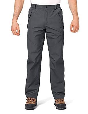 CAMEL CROWN Men's Snow Ski Pants Windproof Waterproof Outdoor Hiking Pants with Zipper Pockets Dark Grey L