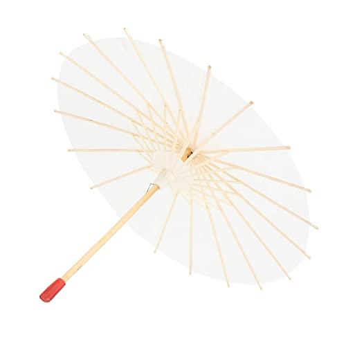 Haowecib Paraguas de Papel Decorativo, Paraguas de Papel Papel Mango sólido para Accesorios de fotografía y Decoraciones de Bodas(Approximately 29.5cm in Diameter)