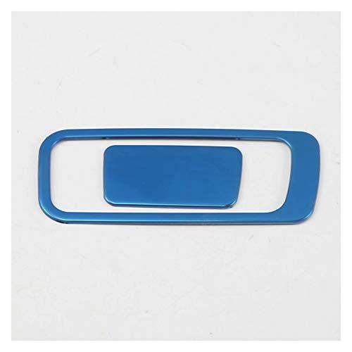 CMEI Ajuste para Hyundai Kona Encino Kauai 2020 2019 2018 Guante de Acero Caja de Almacenamiento Ajuste Interruptor Interruptor Techo Recorte Pegatina de moldeo Interior (Color Name : Steel Blue)