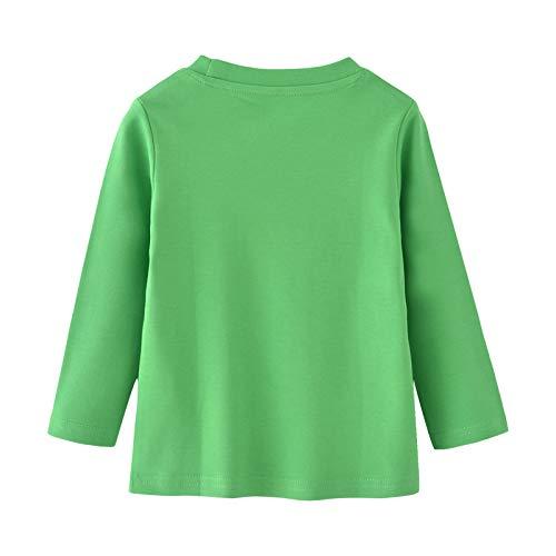 Warmbaby Little Boys Kids Long Sleeve T-Shirts Size 5 Green Truck
