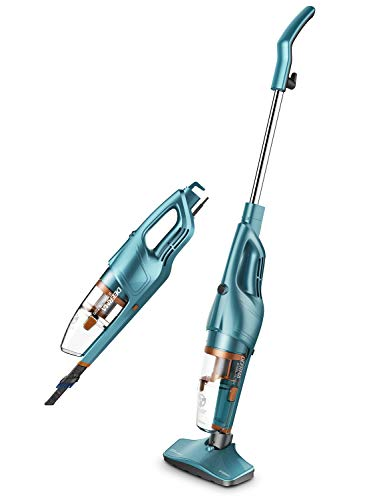 DEERMA 2 in 1 Vacuum Cleaner, Lightweight Corded Upright Stick and Handheld Vacuum Cleaner with Stainless Steel Filter, 600W Strong Suction Power for Hard Floor Carpet Car Pet Hair