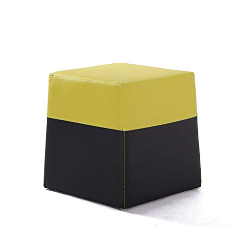 CKH lage kruk massief hout lederen salontafel kruk woonkamer veranderen schoen bank stoel creatieve kleur kruk spons kruk