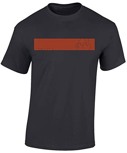 Fahrrad T-Shirt: Fast Forward Bike - Rad Geschenke für Damen & Herren Mann Männer Frau-en - Fixie Retro Radfahrer Mountain-Bike MTB BMX Velo Rennrad E-Bike Outdoor Sport Urban Streetwear (L)