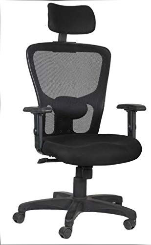 SEGOUR 360' Rotation with Adjustable Height Push Back High Back Mesh Chair for Office Work/Shop (Black)