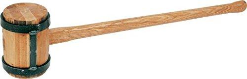 Vorschlaghammer aus Holz - Holzschlegel - Triuso - mit Eisenschelle