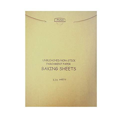 Carta forno riutilizzabile,Carta da Imballaggio Alimentare,Carta oleat,antiaderente, impermeabile, resistente al calore,Carta da Forno in Fogli 30x40|120 Fogli Pretagliati