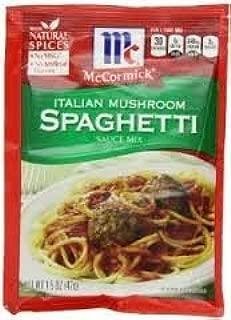 Mccormic Italian Mushroom Spaghetti Sauce Mix 1.5oz Pack of (3)