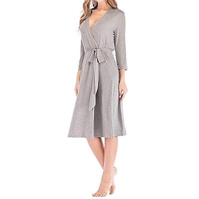 SUNNYME Robes for Women Cotton Kimono Robes Nig...