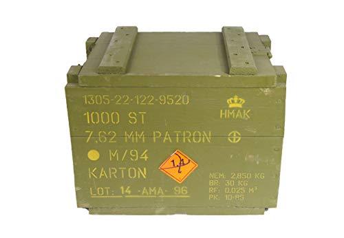 Unbekannt Transportkiste Holzkiste UN012 Oliv Typ B gebraucht 36 x 27 x 27,5 Lagerkiste Truhe Armeekiste