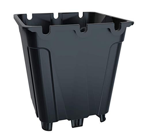 Greenvass 20 x Maceta para Cultivo hidropónico Cuadrada,10 litros. Gran flexibilidad y Resistencia. (20)