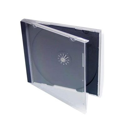 Mables - Set de cajas para CD/DVD (100 unidades), color negro y transparente