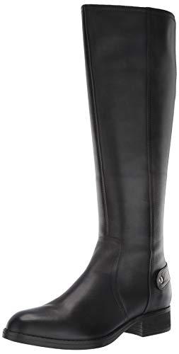 Steve Madden Jax Riding Boot - Wide Shaft Black Leather 7.5 W