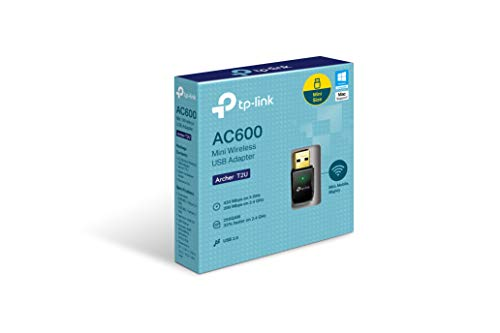 TP-Link Archer T2U AC600 Dual Band WLAN Adapter (AC-Speed bis zu 433 Mbit/s, Mini Größe, Windows 10/8.x /7 /XP, Mac OS X) schwarz