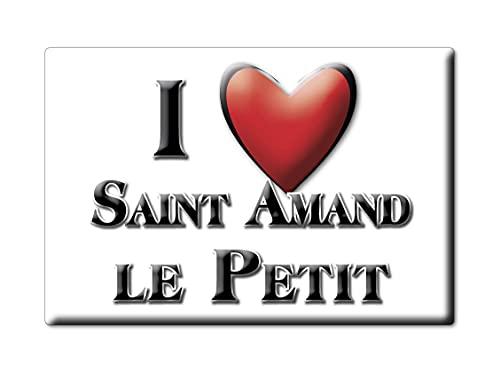 Enjoymagnets Saint Amand LE Petit (87) Souvenir IMANES DE Nevera Francia AQUITAINE IMAN Fridge Magnet Corazon I Love