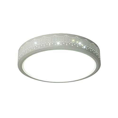 XIAOXY Lámpara de Techo LED Lámpara de salón Redonda Simple Moderna, lámpara de Sala de Estudio de habitación de Dormitorio Caliente, lámpara de Techo Personalizada para el hogar, lámpara de Techo de