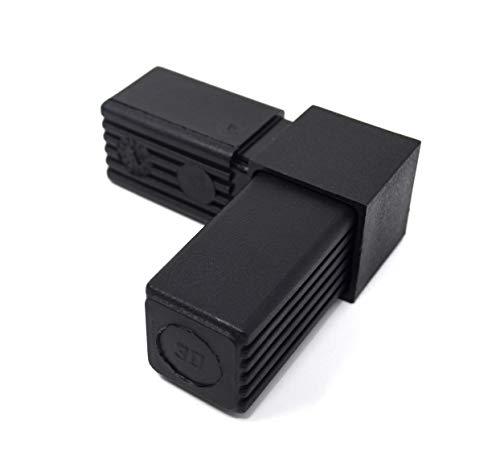 Design61 5 conectores (ángulo derecho) 90° para tubos cuadrados, 30 x 30 x 2 mm