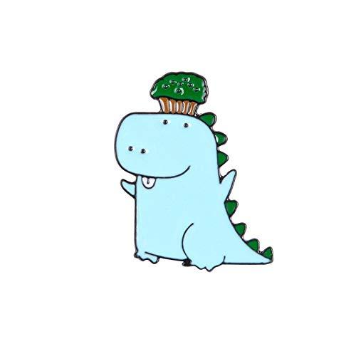 Tier niedlich Emaille Brosche Spielzeug Drachen Kinder beste Geschenk Abzeichen Schultasche Logo Overhead Wald Persönlichkeit Rucksack Anstecknadel Schmuck