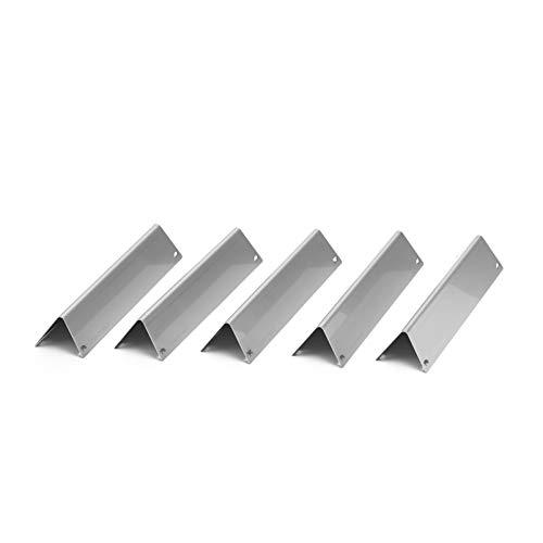 Premium Aromaschienen aus V2A Edelstahl, rostfrei, lasergeschnitten, Flavorizer Bars passend für Weber Spirit 310, 320, 330, ab Modelljahr 2013 (5 Stück)