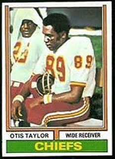 1974 Topps Regular (Football) card#520 Otis Taylor of the Kansas City Chiefs Grade very good/excellent