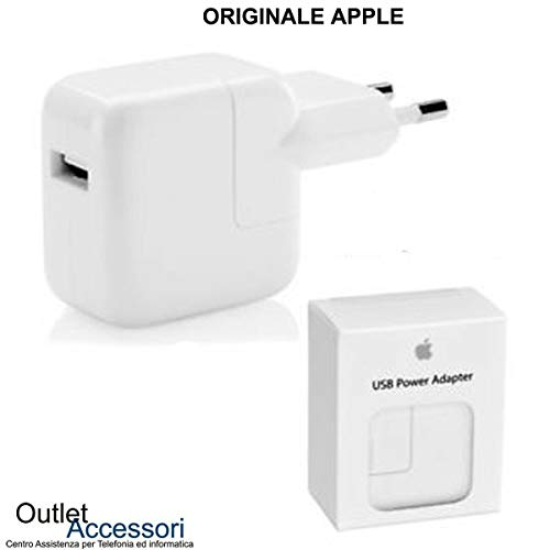 originale Caricatore Carica Batteria Alimentatore Compatibile per Apple Presa USB Power Adapter A1401 12W per iPhone iPad Tablet MD836ZM/A Confezione