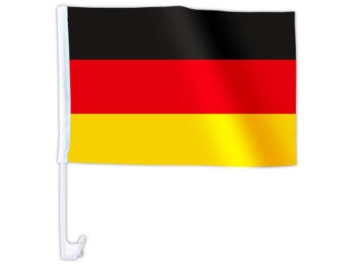 Alsino Lot de 50 Drapeau d'Allemagne accéssoire pour décoration de Voiture Tissu synthétique Impermeable Clips de Fixation vitre ou carosserie espérance Sportive tarajji Ya daoula