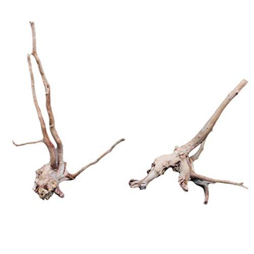 Wakauto 1Pc Ornament Mikro Langlebig Nützlich Praktisch Schöne Baumwurzel Dekor Aquarium Baumwurzel für zu Hause Hotel Büro Größe L