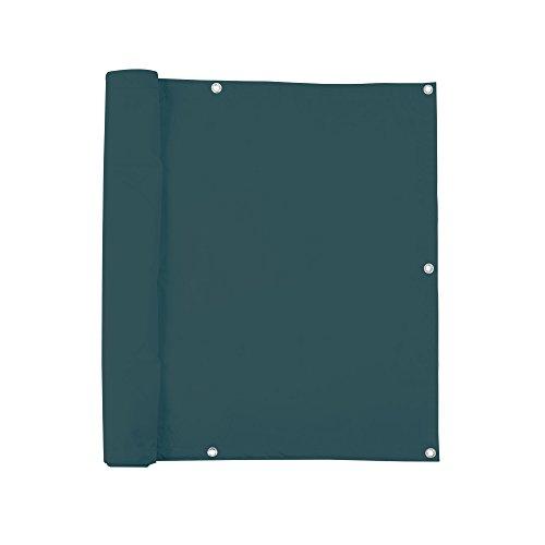 jarolift Balkonbespannung, Balkon Sichtschutz Windschutz Sonnenschutz Balkon-Verkleidung, Wasserabweisend 500 x 90cm (24 Ösen), dunkelgrün