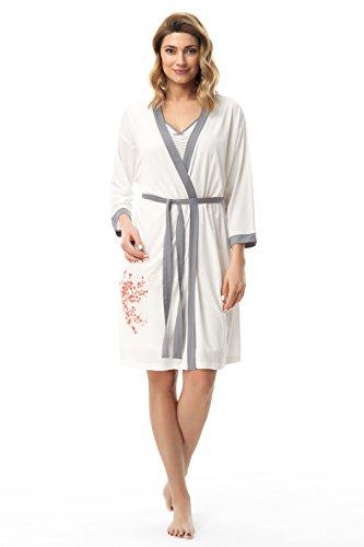 e.FEMME ASAMI 676 - Kimono para mujer (viscosa) crudo 50