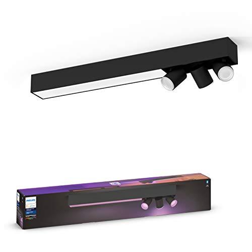 Philips Hue – Lámpara inteligente, Hue Centris, Foco LED Inteligente, Luz Blanca y de Colores, Compatible con Alexa y Google Home, Color Negro