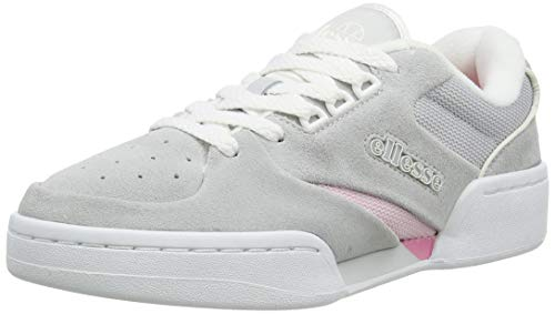 Ellesse Tremiti, Zapatillas Mujer, Multicolor (Light Grey/White/Pink Lt Gry/Wht/Pnk), 39 Eu