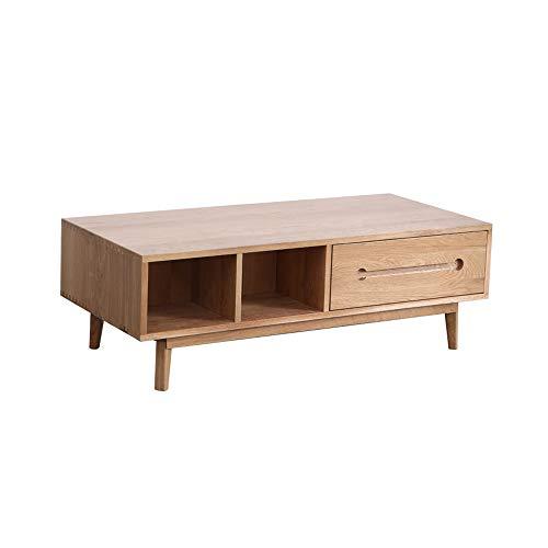 120 cm lange salontafel Scandinavische minimalistische moderne stijl meubels klein appartement massief hout thee tafel grote capaciteit opslagtafel