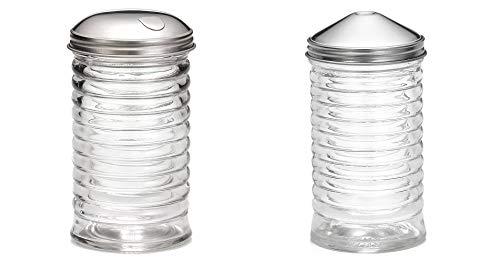 (Set of 2) Beehive Sugar Pourer and Powdered Creamer Dispenser Set