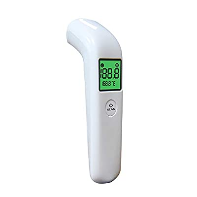 No Touch Forehead Thermometer LCD Digital Thermometer Infrared Thermometer (White no Contact Thermometer)