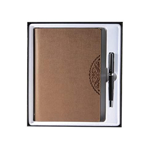 ZNZNN Cuaderno De Hojas Sueltas A5 Bloc De Notas Chino Retro con Marcador Diario Multifuncional Portátil Set Creativo Regalo Regalo Cuaderno Multifuncional (Color : Coffee)