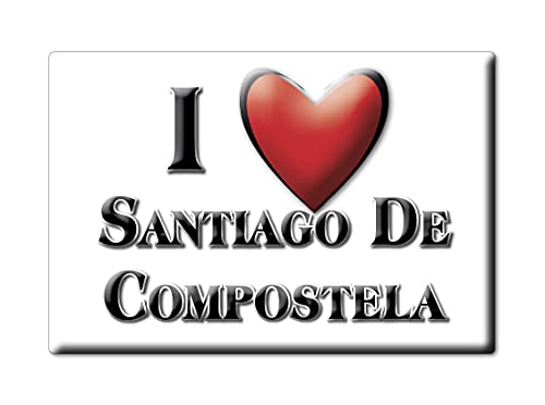 Enjoymagnets Santiago DE COMPOSTELA (C) Souvenir IMANES DE Nevera ESPAÑA Galicia IMAN Fridge Magnet Corazon I Love