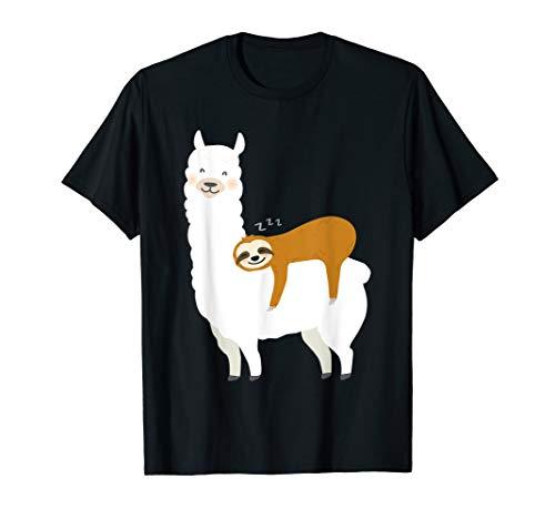 Alpaka Sloth Faultier Llama Lama Alpaca schlafen T-Shirt