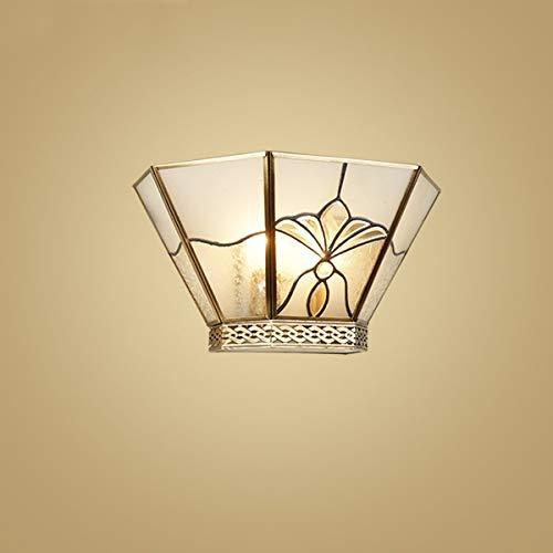 LHQ-HQ Aplique de la Pared de la Vendimia nórdica decoración de la Pared de la lámpara Auxiliar Hotel Villa Pasillo Luces de Cobre, de Color Bronce, 7.1 * 13.4 Pulgadas