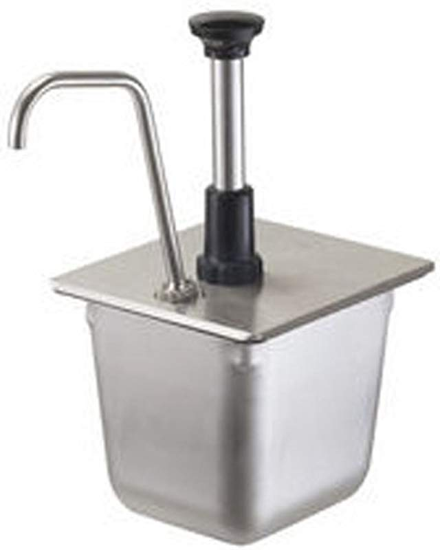 Server Products FP 1 6 86312 Food Pan Pump For 1 6 Size Food Pan 150 Mm 1 Oz Full Portion Dispenses Thin Consistency Condiments Stainless Steel