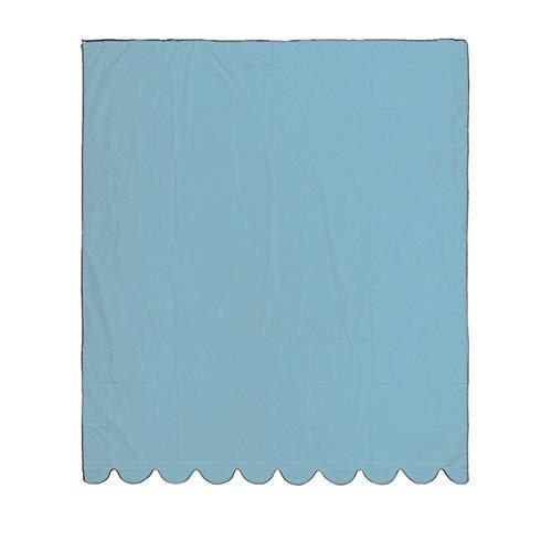 Toldos La Cortina de Sun Sail Pabellón Impermeable toldo del Patio Exterior del pabellón de la Ventana Parasol Toldo Toldo Recambio de Tela de Cortina de Bloqueo de UV (Color : Blue2X1.5m)