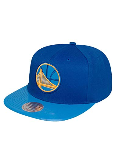 Mitchell & Ness Homme Casquettes / Snapback NBA Patent 2Tone Tonal Golden State Warriors bleu Adjustable