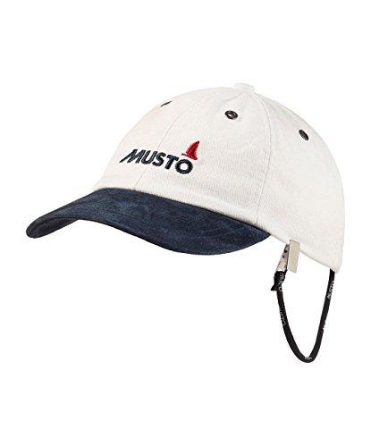 2016 MUSTO Evo Original Crew Cap in Antique Sail White AE0191