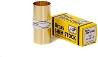 260 Brass Shim Stock, Unpolished (Mill) Finish, H02 Temper, ASTM B19/SAE-CA 260/ASTM B36/QQ-B-613, 0.0015