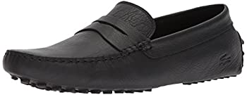 Lacoste Men's Concours Shoes Black leather 13 M US